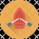 Canoe With Oar Icon