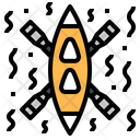 Canoe Rafting Water Icon