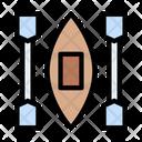Canoe Paddles Travel Icon