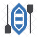 Canoe Paddles Camping Icon