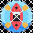 Boat Canoe Oars Icon