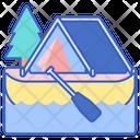 Canoe Camping Icon