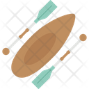 Canoe With Oars Icon