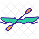 Canoeing Sport River Icon