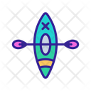 Canoeing Kayak Contour Icon