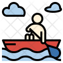 Canoeing Boat River Icon