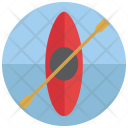 Canoeing Race Boat Icon