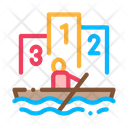 Boat Rowing Competition Icon