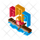 Rowing Competition Boat Icon