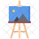 Canvas Easel Picture Icon