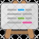 Whiteboard Lesson Plan Icon