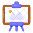 Easel Board Painting Artwork Icon