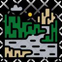 Canyon Landscape Nature Icon