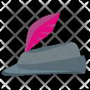 Cap Feather Man Icon