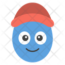 Cap Egg Smiley Icon