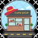 Cap Store Garment Store Commercial Building Icon