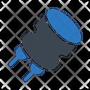 Capacitor Polarized Electric Icon