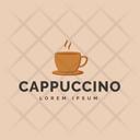 Cappuccino Logo Hot Coffee Cappuccino Logomark Icon