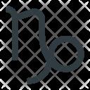Capricorn Astrology Zodiac Icon