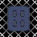 Capsule Strips Icon