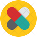 Capsule Drugs Medical Icon