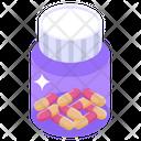 Capsules Bottle Pills Jar Medicine Jar Icon