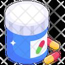 Capsules Jar Pills Jar Medicine Jar Icon