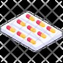 Capsules Strip Medication Capsules Icon