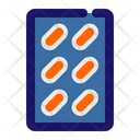 Capsules Strip Capsules Tablets Icon