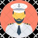 Captain Boat Pilot Icon