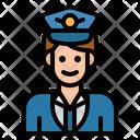 Captain Pilot Hat Icon