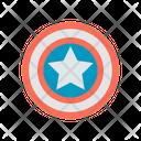 Caption America Badge Captain America Superhero Icon