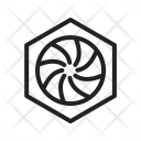 Hexagonal Diaphram Capture Icon