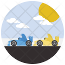 Car Race Travel Icon