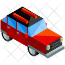 Red Family Car Icon