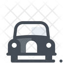 Car Icon in Colored Outline Style