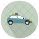 Grey Car Side View Car Vehicle Icon