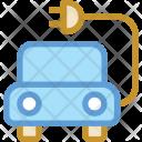 Car Charging Eco Icon