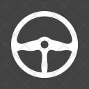 Car Steering Control Icon