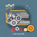 Car Machine Mechanic Icon
