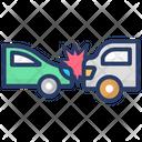 Auto Accident Auto Crash Car Hit Icon