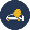 Car Accident With Tree Accident Car Icon