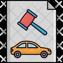Car Auction File Agreement Autonomous Icon