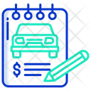 Car Bill Car Service Bill Bill Icon