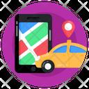 Car Booking App Car Location Request Ride Icon