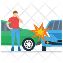 Car Crash Car Breakdown Road Accident Icon
