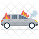Car Burning Icon