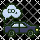 Car Carbon Diaxide Icon