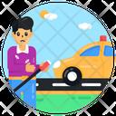 Car Child Labour Icon