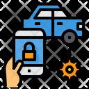 Car Control Internet Of Things Internet Icon